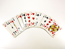 Poker cards. On a table Royalty Free Stock Images