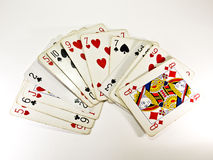 Poker cards. On a table Royalty Free Stock Photography