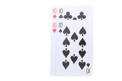 Poker cards Ten Royalty Free Stock Photography