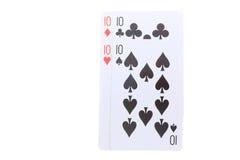 Poker cards tio Royaltyfri Fotografi