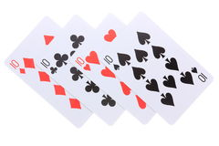 Poker cards tio Fotografering för Bildbyråer