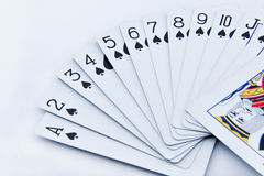 The poker cards on white background Royalty Free Stock Photography