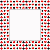 Poker/Cards  White Background / Black, Red and White Royalty Free Stock Image