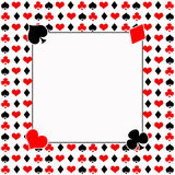 Poker/Cards white Background = Black, Red and White Stock Images