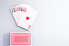 Poker cards. Word jajaja made with póker cards Stock Photos