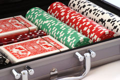 Poker Case Stock Photography