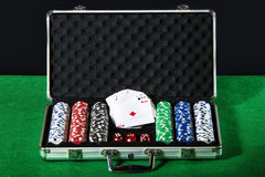 Poker case Royalty Free Stock Image