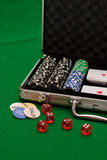 Poker case Royalty Free Stock Images