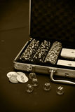 Poker case Royalty Free Stock Photo