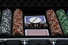 Poker case set Royalty Free Stock Image