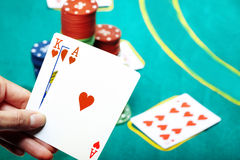 Poker in casino Royalty Free Stock Photography