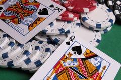 Poker in casino Stock Image