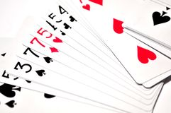 Poker casino cards game from las vegas nevada Stock Image