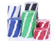 Poker casino chips Royalty Free Stock Photos
