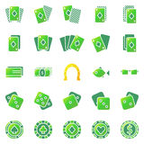 Poker or casino icons set Stock Images