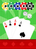 Poker casino Royalty Free Stock Image