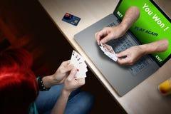 Poker casino player Stock Photos