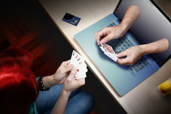 Poker casino player Royalty Free Stock Images