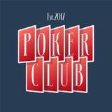 Poker, casino vector logo, emblem royalty free illustration