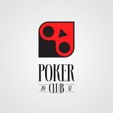 Poker, casino vector logo, sign Royalty Free Stock Photos