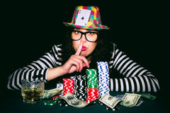 Poker cheater Stock Photo