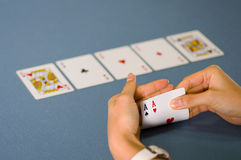 Poker cheating Royalty Free Stock Image
