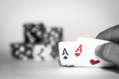 Poker Check Stock Images