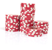 Poker chip. Isolated on white background Stock Photos