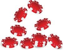 Poker chip. S on white background. Vector illustration royalty free illustration