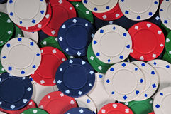 Poker chip abstract Royalty Free Stock Photo