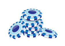 Poker chip blue. Vector  illustration graphic background poker chip Color blue Royalty Free Stock Photo