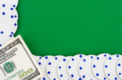 Poker Chip Border Royalty Free Stock Images