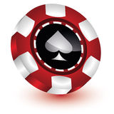 Poker Chip Casino. Individual colorful poker chip from the Casino Royalty Free Stock Images