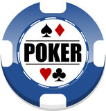 Poker chip. Poker casino chip for websites and other places stock illustration