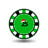 Poker chip Christmas new year. Icon EPS 10  illustration on a white background to separate easily. Use for websites, design,. Decoration, printing, etc. Santa Stock Image