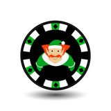 Poker chip Christmas new year. Icon EPS 10  illustration on a white background to separate easily. Use for websites, design, Royalty Free Stock Photos