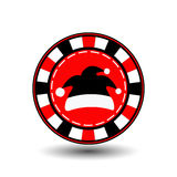 Poker chip Christmas new year. Icon EPS 10  illustration on a white background to separate easily. Use for websites, design, Stock Photo