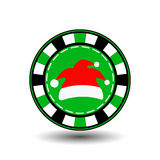Poker chip Christmas new year. Icon EPS 10  illustration on a white background to separate easily. Use for websites, design, Stock Images