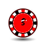 Poker chip Christmas new year. Icon EPS 10  illustration on a white background to separate easily. Use for websites, design, Royalty Free Stock Photo