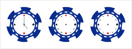 Poker chip clock page Stock Photo