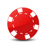 Poker chip icon Stock Photos
