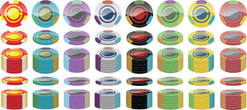 Poker chip pack Stock Photography