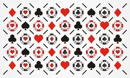 Poker chip pattern Royalty Free Stock Image