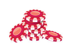 Poker chip Red. Vector  illustration graphic background poker chip Color Red Stock Image