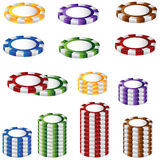 Poker Chip Set Royalty Free Stock Photos