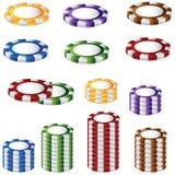 Poker Chip Set. A 3D image of a poker chip set royalty free illustration