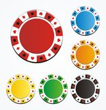 Poker chip sets Royalty Free Stock Images