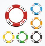 Poker chip vector sets Stock Photos