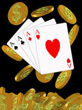 Poker and chips Stock Image