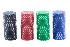 Poker chips. Royalty Free Stock Photography